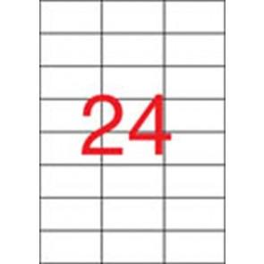 Etikett, lézernyomtatókhoz, 70x37 mm, APLI, 6000 etikett/csomag