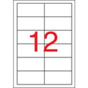 Etikett, lézernyomtatókhoz, 97x42,4 mm, APLI, 3000 etikett/csomag