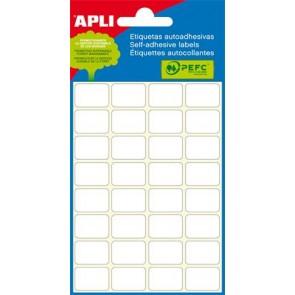 Etikett, 10x49 mm, kézzel írható, ékszerekhez, APLI, 48 etikett/csomag