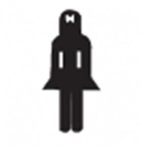Információs matrica, női mosdó, APLI
