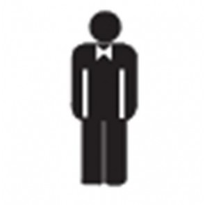 Információs matrica, férfi mosdó, APLI