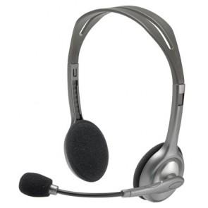 """Fejhallgató, mikrofonnal, LOGITECH """"H110"""", fekete"""