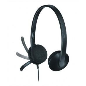 """Fejhallgató, mikrofonnal, USB csatlakozás, LOGITECH """"H340"""""""