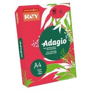 """Másolópapír, színes, A4, 80 g, REY """"Adagio"""", intenzív piros"""