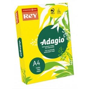 """Másolópapír, színes, A4, 80 g, REY """"Adagio"""", intenzív sárga"""