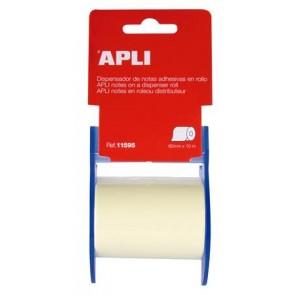 Öntapadó jegyzetpapír tekercsben, APLI, 60 mm x 10 m