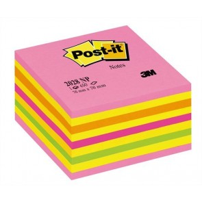Öntapadó jegyzettömb, 76x76 mm, 450 lap, 3M POSTIT, lollipop pink