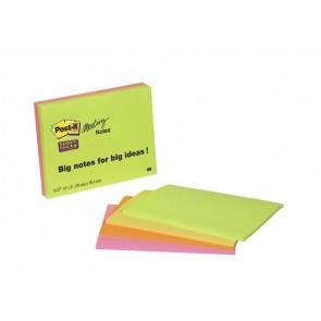 Meeting chart, öntapadó, 4x45 lap, 14,9x9,8 cm, 3M POSTIT, vegyes színek