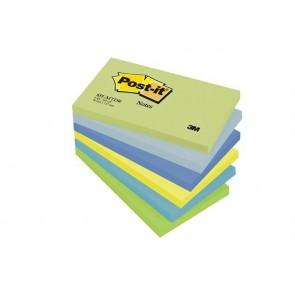 Öntapadó jegyzettömb, 76x127 mm, 100 lap, 3M POSTIT, álmodozó színek
