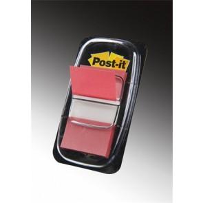 Jelölőcímke, műanyag, 50 lap, 25x43 mm, 3M POSTIT, piros