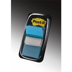 Jelölőcímke, műanyag, 50 lap, 25x43 mm, 3M POSTIT, kék