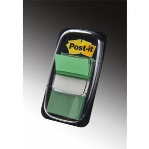Jelölőcímke, műanyag, 50 lap, 25x43 mm, 3M POSTIT, zöld