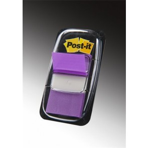 Jelölőcímke, műanyag, 50 lap, 25x43 mm, 3M POSTIT, lila