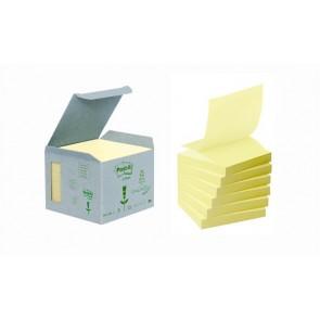 """Öntapadó jegyzettömb, """"Z"""", 76x76 mm, 6x100 lap, környezetbarát, 3M POSTIT, sárga"""