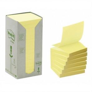 """Öntapadó jegyzettömb, """"Z"""", 76x76 mm, 16x100 lap, környezetbarát, 3M POSTIT, sárga"""