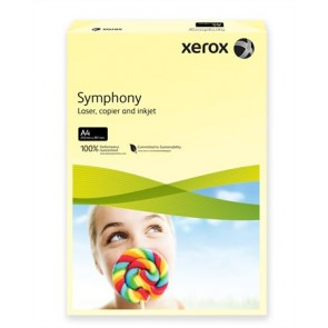 """Másolópapír, színes, A4, 80 g, XEROX """"Symphony"""", világossárga (pasztell)"""