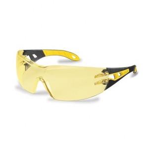 """Védőszeműveg, sárga lencse, UVEX, """"Pheos"""" sárga-fekete szár"""