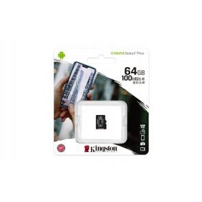 "Memóriakártya, microSDXC,64GB, CL10/UHS-I/U1/V10/A1, KINGSTON ""Canvas Select Plus"""