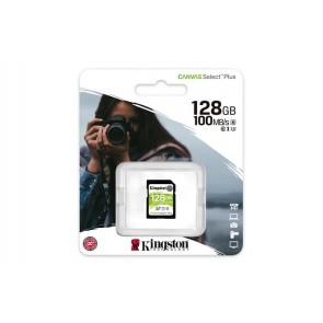 "Memóriakártya, SDXC, 128GB, CL10/UHS-I/U3/V30, KINGSTON ""Canvas Select Plus"""