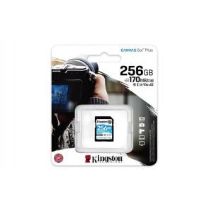 "Memóriakártya, SDXC, 256GB, C10/UHS-I/U3/V30, KINGSTON ""Canvas Go! Plus"""