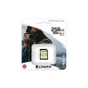 "Memóriakártya, SDXC, 256GB, CL10/UHS-I/U3/V30, KINGSTON ""Canvas Select Plus"""