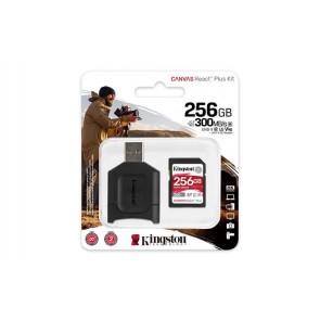 """Memóriakártya, SDXC, 256GB, C10/UHS-II/U3/V90, kártyaolvasó, KINGSTON """"Canvas React Plus"""""""