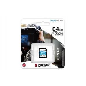 "Memóriakártya, SDXC, 64GB, C10/UHS-I/U3/V30, KINGSTON ""Canvas Go! Plus"""
