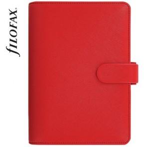 """Kalendárium, gyűrűs, betétlapokkal, personal méret, FILOFAX """"Saffiano"""", piros"""