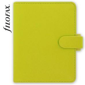 """Kalendárium, gyűrűs, betétlapokkal, pocket méret, FILOFAX, """"Saffiano"""", zöld"""