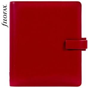 """Kalendárium, gyűrűs, betétlapokkal, A5, FILOFAX """"Metropol"""", vörös"""