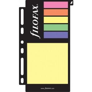 Kalendárium betét, öntapadó jelölőcímke és jegyzet, nagy, FILOFAX, színes