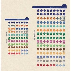 Kalendárium betét, öntapadó szervezőcímke, nagy FILOFAX, színes