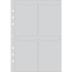 Kalendárium betét, kártyatartó, pocket méret, FILOFAX