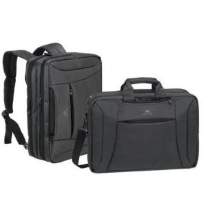 """Notebook táska, hátizsákká alakítható, 16"""", RIVACASE """"Central 8290"""", fekete"""