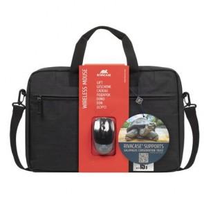 """Notebook táska, 15,6"""", vezeték nélküli egérrel, RIVACASE """"Regent 8038"""", fekete"""