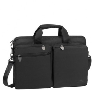 "Notebook táska, 16"", RIVACASE ""Tiergarten 8530"", fekete"