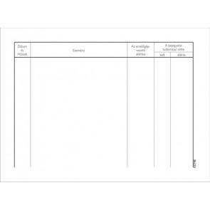 Nyomtatvány, emelőgépnapló, 25 lap, A5, VICTORIA, 20 tömb/csomag