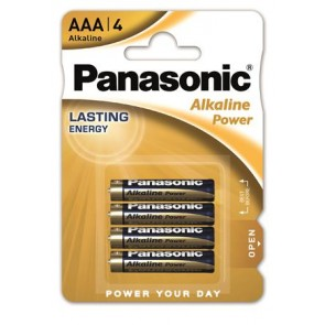 "Elem, AAA mikro, 4 db, PANASONIC ""Alkaline power"""