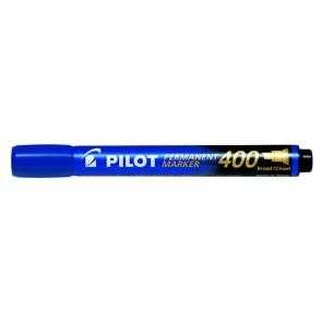"Alkoholos marker, 1,5-4 mm, vágott, PILOT ""Permanent Marker 400"", kék"