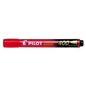 "Alkoholos marker, 1,5-4 mm, vágott, PILOT ""Permanent Marker 400"", piros"