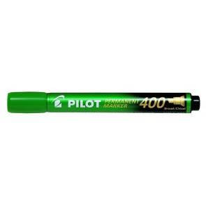 "Alkoholos marker, 1,5-4 mm, vágott, PILOT ""Permanent Marker 400"", zöld"