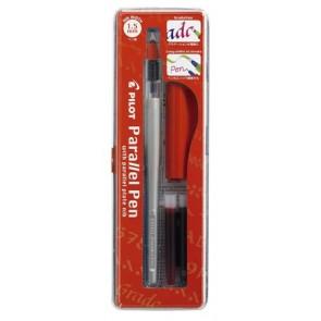 """Töltőtoll, 0,1-1,5 mm, piros kupak, PILOT """"Parallel Pen"""""""