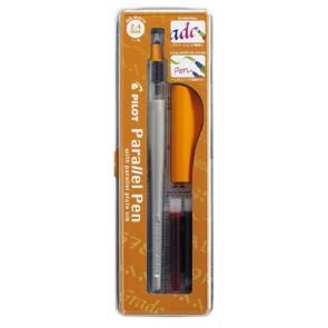 """Töltőtoll, 0,5-2,4 mm, narancssárga kupak, PILOT """"Parallel Pen"""""""