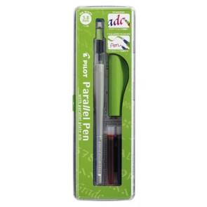"""Töltőtoll, 0,5-3,8 mm, zöld kupak, PILOT """"Parallel Pen"""""""