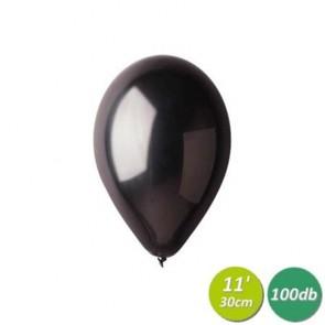 Léggömb, 30 cm, gyöngyház fekete