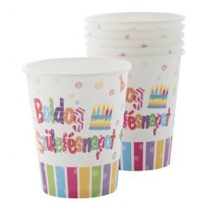 """Pohár, papír, 2 dl, """"Boldog születésnapot"""""""