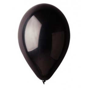 Léggömb, 26 cm, fekete
