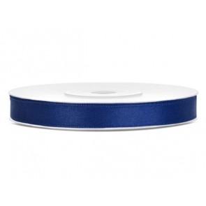 Szatén szalag, 6 mm,  sötét kék