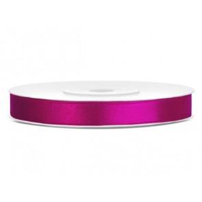 Szatén szalag, 6 mm, sötét pink