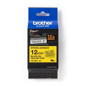 """Feliratozógép szalag, 12 mm x 8 m, BROTHER, """"TZE-631"""" sárga-fekete"""